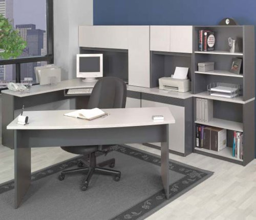 Granite and Graphite Modular Office Group Classic Granite Collection by Bestar Office Furniture - OF
