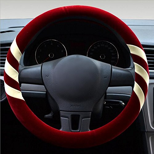 gomass-automotive-winter-plush-flocking-steering-wheel-covers-universal-15-inch-white-red