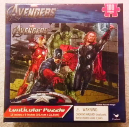 Marvel Avengers Lenticular Puzzle [100 Pieces] Iron Man, Hulk, Thor, and Captain America