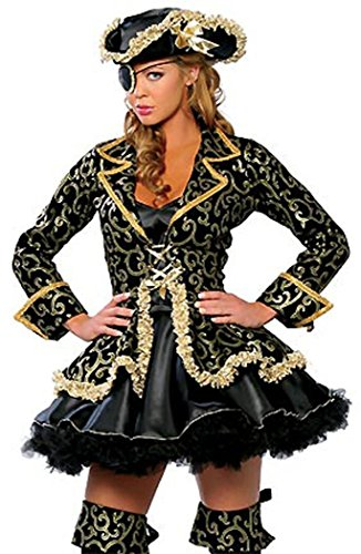 [Anmengte Halloween Masquerade Party Costume Lingerie Sexy Cosplay Bodysuit Sets (L, 14Black)] (Masquarde Masks)
