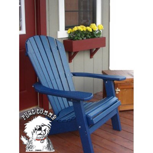 Black friday PHAT TOMMY Deluxe Folding Recycled Poly Wood Adirondack Patio Ch