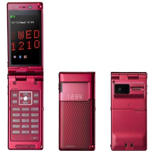 新品 P-01A グラマラスレッド 携帯電話 白ロム ドコモ docomo