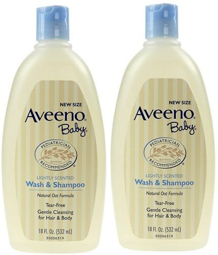 Aveeno Baby Wash and Shampoo,18 Fl. Oz., 2 Count
