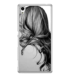 Girl with Gorgeous Hair 2D Hard Polycarbonate Designer Back Case Cover for Sony Xperia Z4