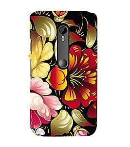 Floral Pattern Designer Back Case Cover for Motorola Moto G3::Motorola Moto G (3rd Gen)