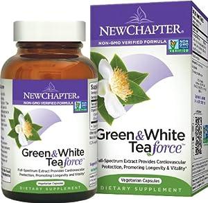 New Chapter Green & White Tea Force, 60 Vegetarian Capsules