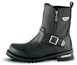 Milwaukee Motorcycle Clothing Company Mens Afterburner Boots (Black, Size 9.5)