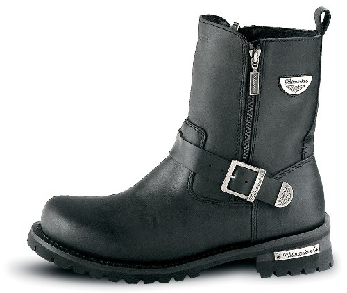 Milwaukee Motorcycle Clothing Company Mens Afterburner Boots (Black, Size 10)