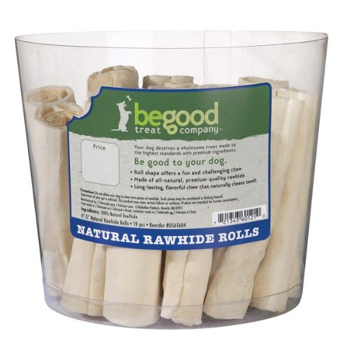 Be Good Treat 4 to 5-Inch Dog Natural Rawhide