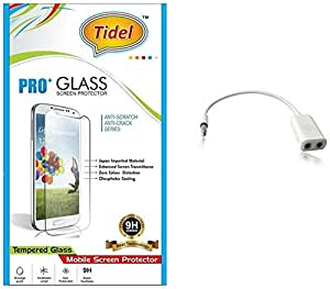 Tidel 2.5D Curved Tempered Glass Screen Guard Protector For Micromax Canvas Nitro 4G E455 With Audio Spliter