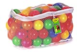 Click N' Play Pack of 100 Phthalate Free PBA Free Crush Proof Plastic Ball, Pit Balls – 6 Bright Colors in Reusable and Durable Storage Mesh Bag with Zipper
