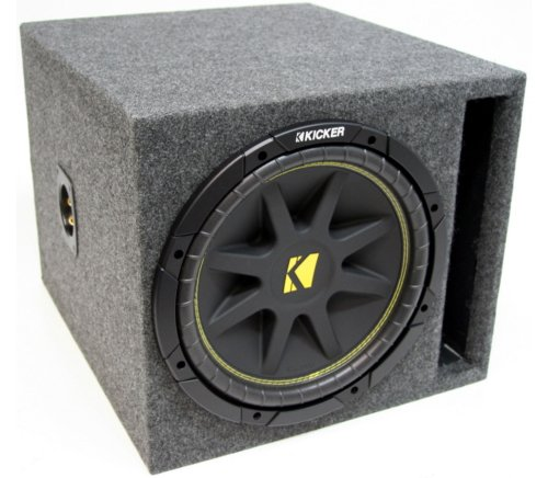"Asc Package Single 12"" Kicker Sub Box Vented Port Subwoofer 3/4"" Mdf Enclosure C12 Comp 300 Watts Peak"