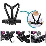 Vanwalk 15-in-1 Accessories Kit for Gopro Hero 4 Session Hero+ LCD 3+ 3 2 SJ4000 SJ5000 - Chest Harness Belt / Bike Mount / Telescopic Pole / Head Strap / Carry Case / Floating Grip