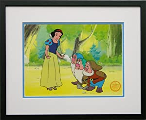 Snow White and the Seven Dwarfs Walt Disney Limited Edition Animation Cel, Framed