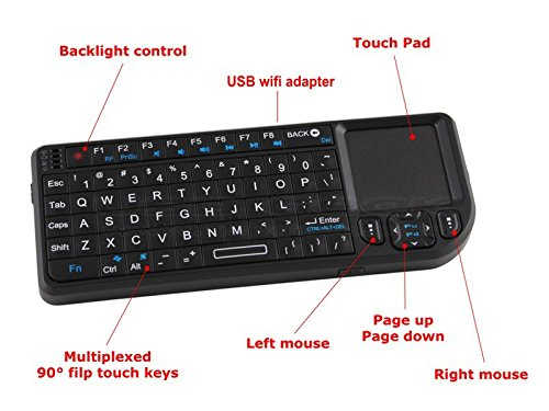 2.4g Wireless Mini Keyboard Touchpad Backlight for Smart Tv Samsung Lg Panasonic Toshiba and Pc/laptop (Lg Wireless Keyboard compare prices)