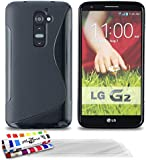 "MUZZANO Coque Souple Ultra-Slim ""Le S"" Premium Noir pour LG G2 de Qualité Supérieure ORIGINALE - Protection Antichoc ELEGANTE, OPTIMALE et DURABLE + 3 Protections d'Ecran transparents ""UltraClear"" + 1 STYLET et 1 CHIFFON MUZZANO OFFERTS"