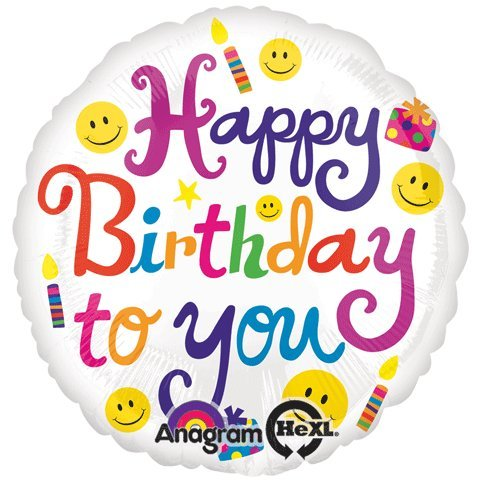 Anagram International Hx Bold Birthday to You Balloon, Multicolor - 1