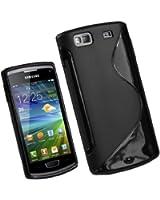 Mobile Bar S-Line Design Noir Coque de protection Silicone pour Samsung Wave 3 S8600