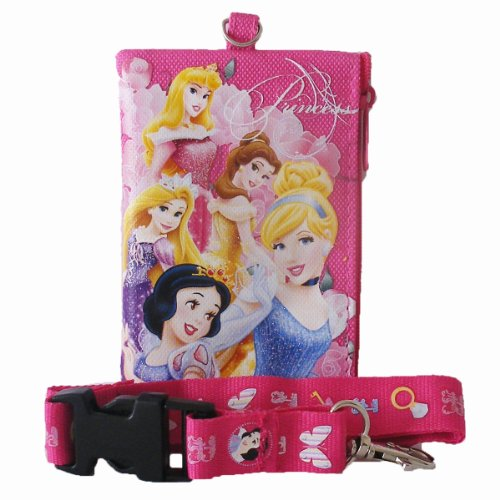 Disney Princess Lanyard with Detachable Coin Purse - Hot Pink - 1