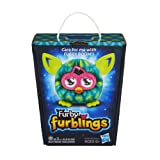 Feathers Furby Furblings Blue and Green Plush Figure