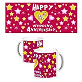 ToduGift Happy 31st wedding anniversary mug