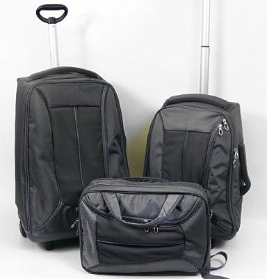 3 Piece Wheeled Luggage Set - Grey by Rock House