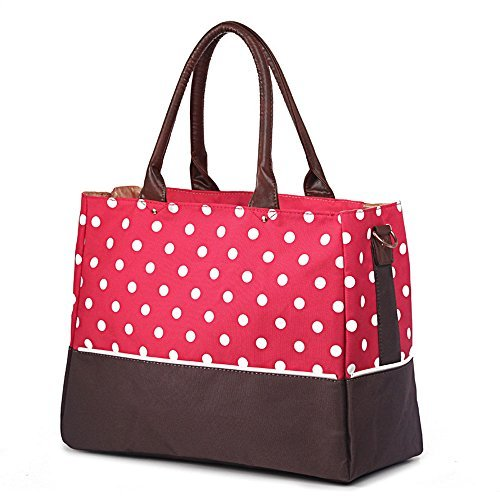 Ylyycc multifunction large capacity mummy bag convinient wave point mom tote handbag