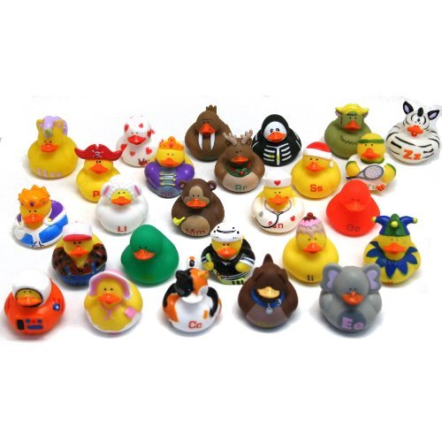 Rin ABC's Rubber Duckies, Set of 26 Abc Bath