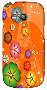 Beautiful 3D multicolor printed protective REBEL mobile back cover for Samsung Galaxy S3-Mini - D.No-DEZ-1921-s3m