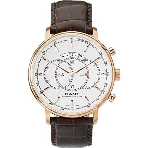GANT W10893 - Reloj analógico de cuarzo para hombre con correa de piel, color marrón