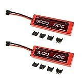 おもちゃ Venom ベノム 50C 3S 11.1V 5000mAh LiPO Hardcase Flat Pack Battery with Universal Plug x2 Packs [並行輸入品]