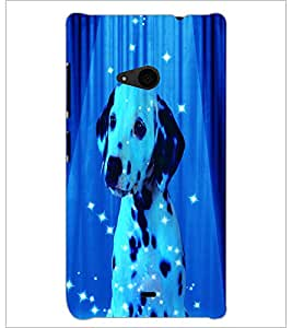 PrintDhaba Spot Dog D-3893 Back Case Cover for MICROSOFT LUMIA 535 (Multi-Coloured)