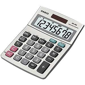 Casio MS-80S-S-IH Desktop Calculator with 8-Digit Display