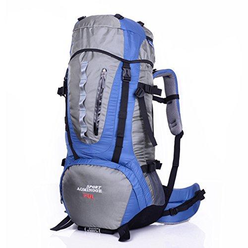 Grand sac de capacité / sac à dos de sport de plein air / sac d'alpinisme / sac à dos de randonnée-bleu 70L