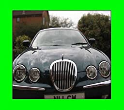 1999-2006 JAGUAR S-TYPE S TYPE CHROME GRILL GRILLE KIT 2000 2001 2002 2003 2004 2005 99 00 01 02 03 04 05 06 3.0 4.0 4.2 TYPE R TYPE-R SUPERCHARGED