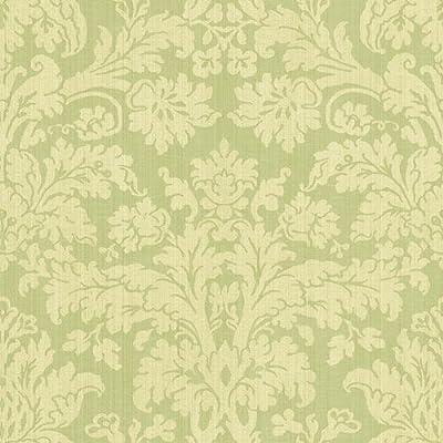 home inside waverly damask wallpaper green