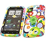 ITALKonline POTPURI FLOWERS HTC Sensation HD Andriod SmartPhone Hybrid Armour Hard Tough Shell Clip On Case Skin Cover & LCD Screen Protector