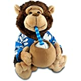"Vacation Monty - ""Escape (If You Like Pina Coladas)"" Animated Singing Monkey Plush Toy With Expanding Cheeks"