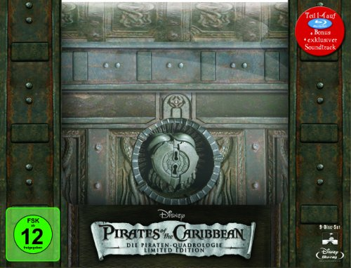 Pirates of the Caribbean - Die Piraten-Quadrologie (Limitierte Collector's Edition Schatztruhe inkl. Soundtrack) [Blu-ray]