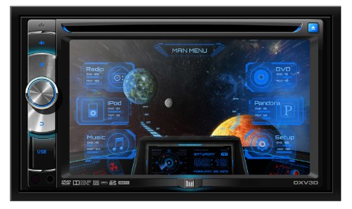 "Dual DX-V3D In-Dash 6.2"" Touchscreen CD/SD/DVD/MP3/USB Multimedia Car Stereo Receiver Bluetooth/Pandora"