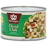 Worthington Diced Chik, Fat Free, 13-Ounce Cans (Pack of 12) ~ Worthington