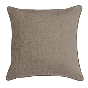 Scatter Box Chloe Chenille Feather Filled Cushion, Stone, 55 x 55 Cm