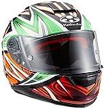 オージーケーカブト(OGK KABUTO) バイクヘルメット フルフェイス RT-33 VELOCE グリーンオレンジ L ( 59-60cm )