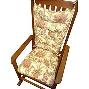 Rocking Chair Cushion Set Cambridge Rose Pink Floral Print S