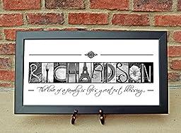 CUSTOM Family Name Sign, Alphabet Photography, Creative Letter Art, Custom Name Sign, Realtor\'s gift, Architectural Name Art
