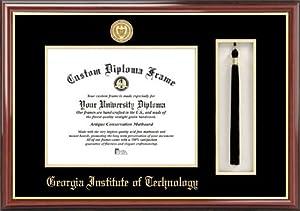 Georgia Inst. of Technology Yellow Jackets - Gold Medallion - Tassel Box - Mahogany -... by Laminated Visuals
