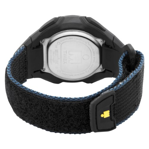 Timex Mens T5K413 Ironman Traditional 30-Lap Oversize Black/Blue Fast Wrap Velcro Strap Watch