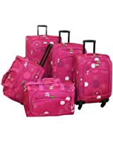 American Flyer Luggage Fireworks 5 Piece Spinner Set