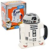 Star Wars Mug - R2-D2 3D Ceramic Coffee and Drink Mug with Removable Lid - 8 oz