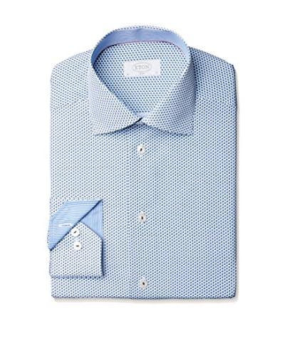 Eton Men's Slim Fit Patterned Spread Collar Dress Shirt